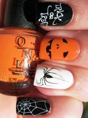 Halloweenowe paznokcie 12