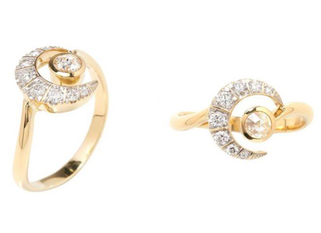 В коллекции представлены изделия из золота и бриллиантов