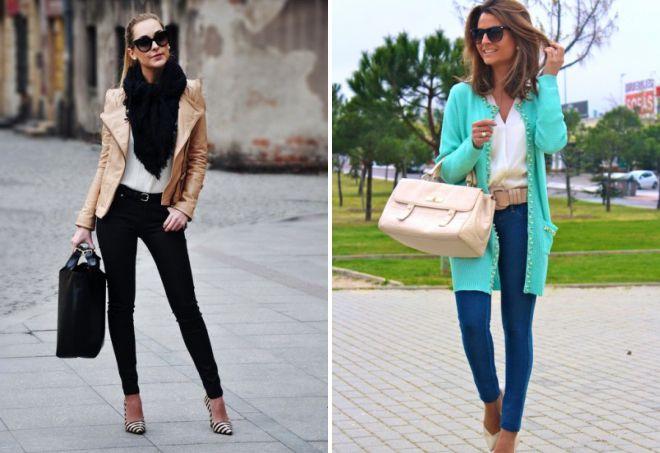 стильные узкие джинсы