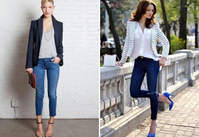 обувь к узким джинсам