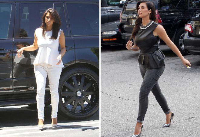 Ким Кардашьян в джинсах