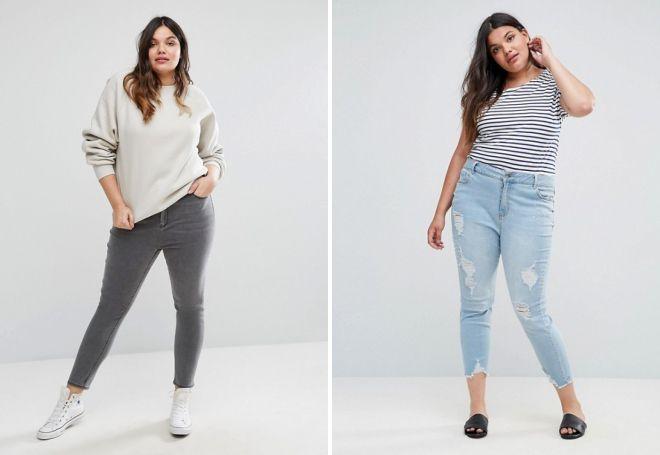 зауженные джинсы для девушек