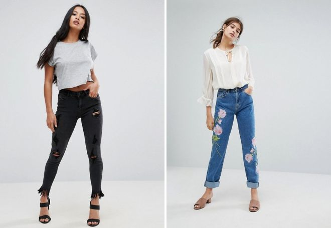 модные зауженные джинсы 2017