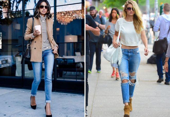 женские джинсы зауженные к низу