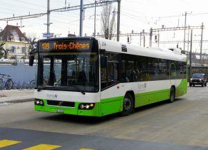 Автобус в Невшателе