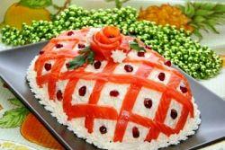 Новогодишња салата са црвеном рибом