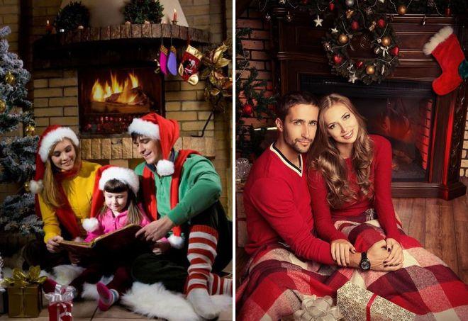 образ новогодней фотосессии в свитере