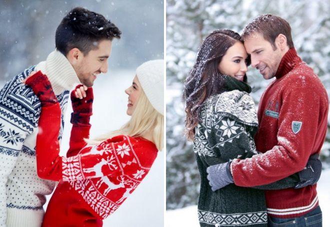 новогодние свитера для двоих
