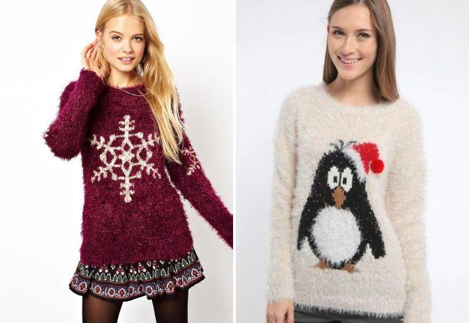свитера с новогодней тематикой