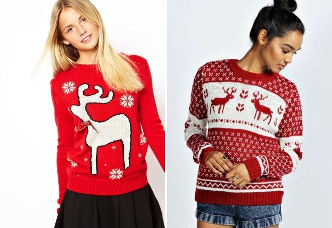новогодние свитера с оленями