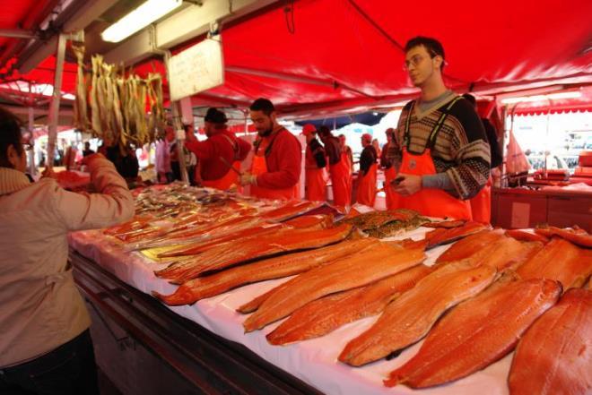 Рыбный рынок Бергена