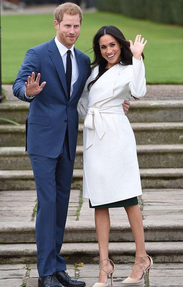 Принц Гарри и Меган Маркл в пальто Meghan от Line