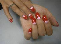 manicure księżycowy 2