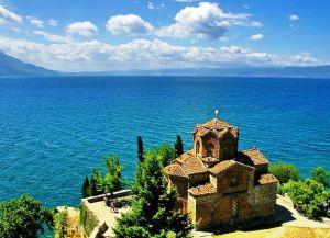 Охридское озеро и Храм Иоанна Богослова