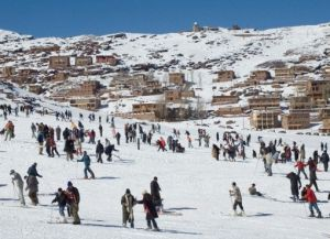 Зимой здесь очень много туристов