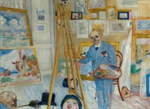 Картины в доме-музее художника Джеймса Энсора