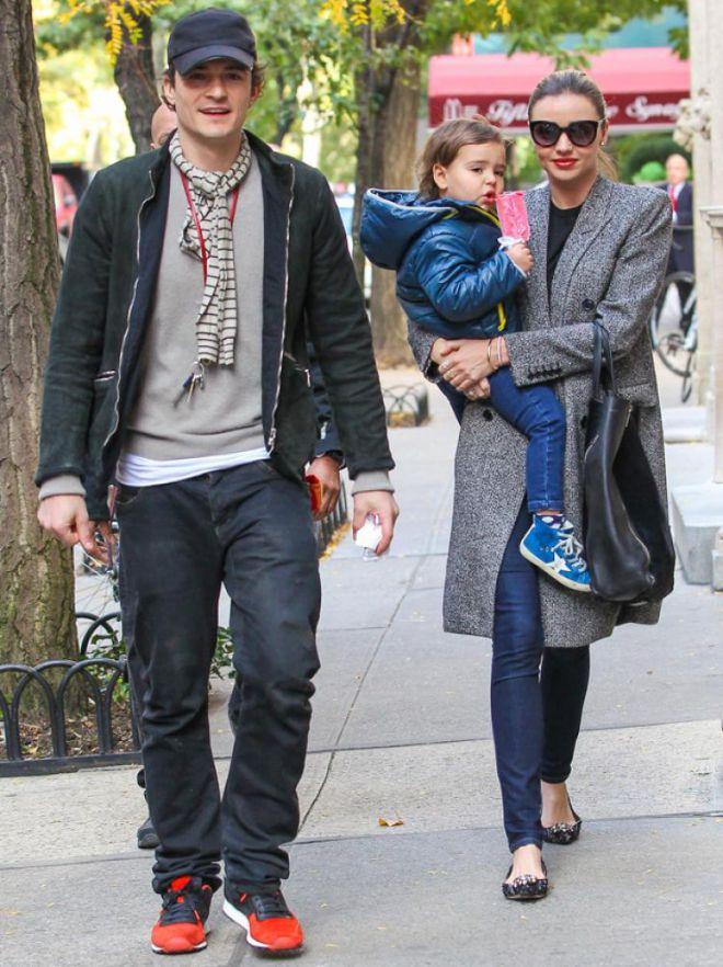 Блум и Керр с сыном Флинном