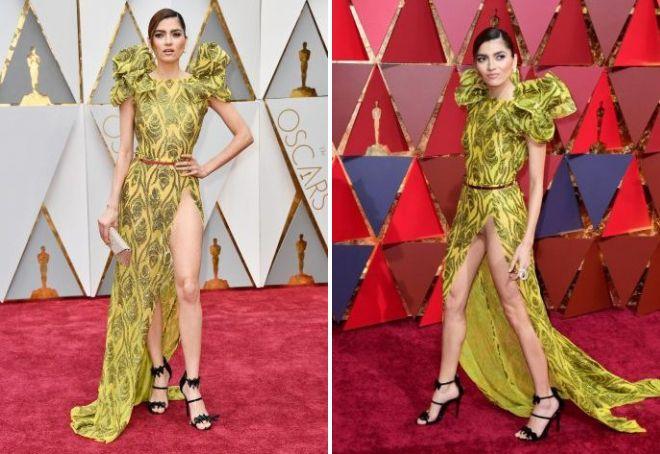 Skandalowa sukienka Blanca Blanco na Oscara 2017