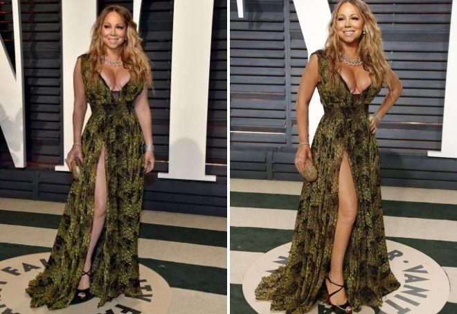 Niepomyślny dekolt na sukience Mariah Carey na Oscar 2017