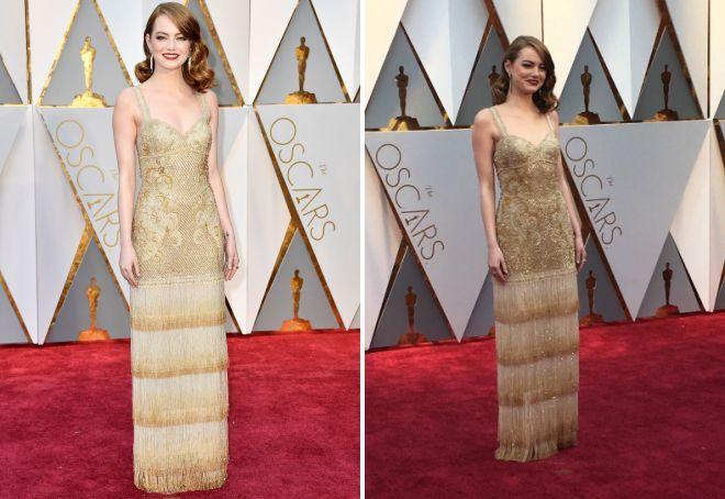 Emma Stone w sukience shikranom na Oscar 2017