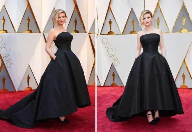 Sukienka Kirsten Dunst stała się jednym z najbardziej eleganckich zdjęć na Oscara 2017