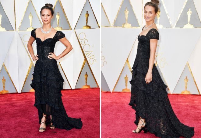 Koronkowa sukienka Alicii Wickander na Oscar 2017
