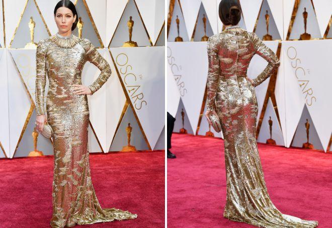 Wspaniała sukienka Jessiki Bill na Oscar 2017