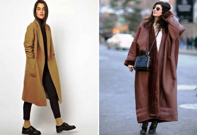 длинное пальто оверсайз