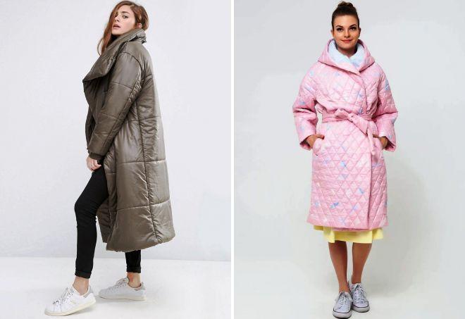 стеганое пальто оверсайз