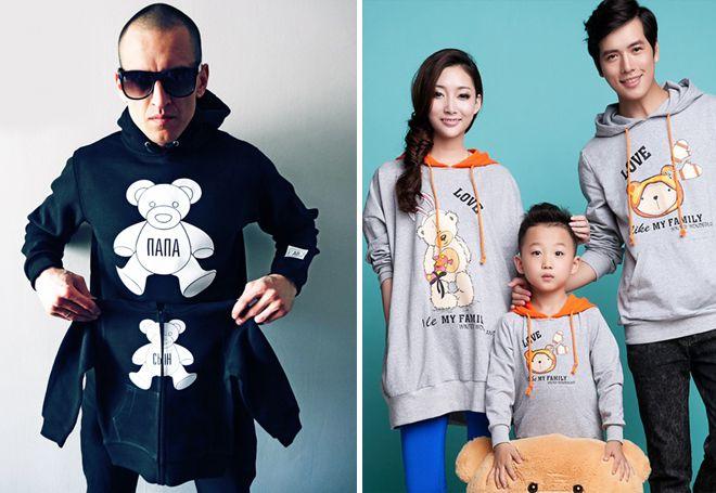 идентични пуловери за цялото семейство