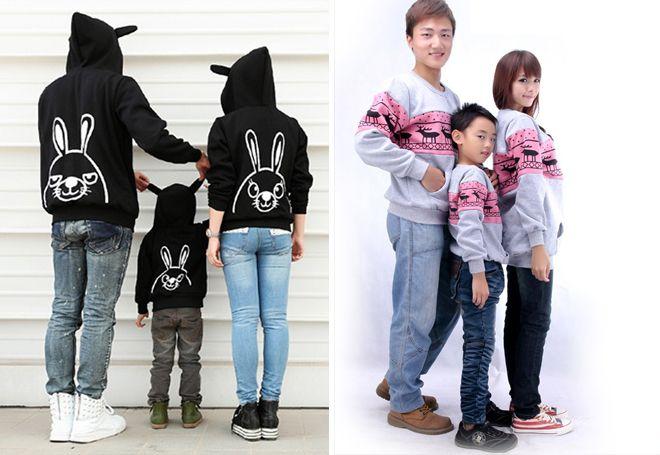 идентични пуловери за майка и син
