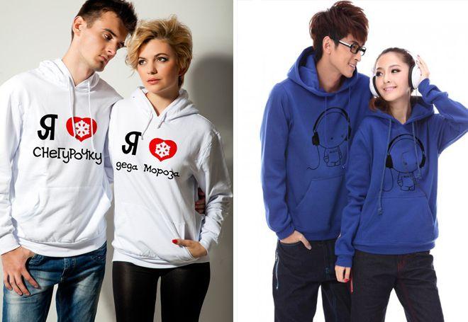 Двойка пуловери за момче и момиче