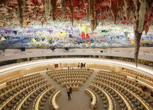 Один из залов Дворца Наций