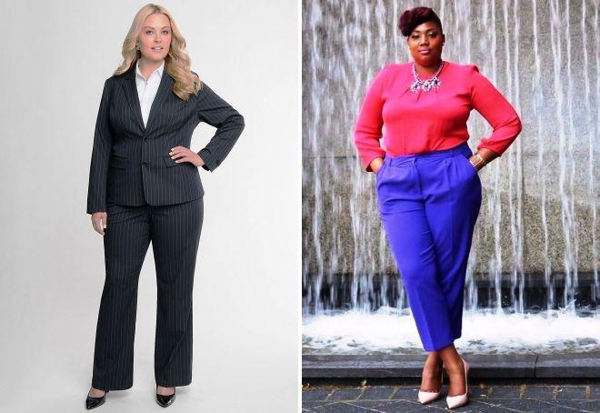 какие брюки носить полным женщинам маленького роста