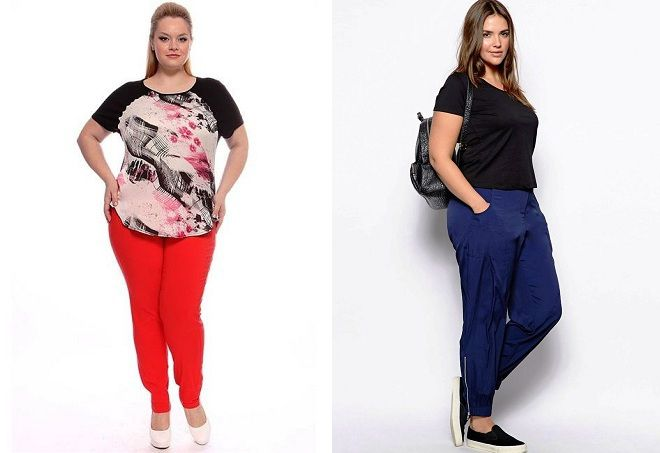 брюки для полных женщин 2017