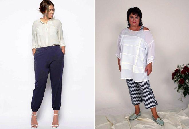 брюки 7 8 для полных женщин