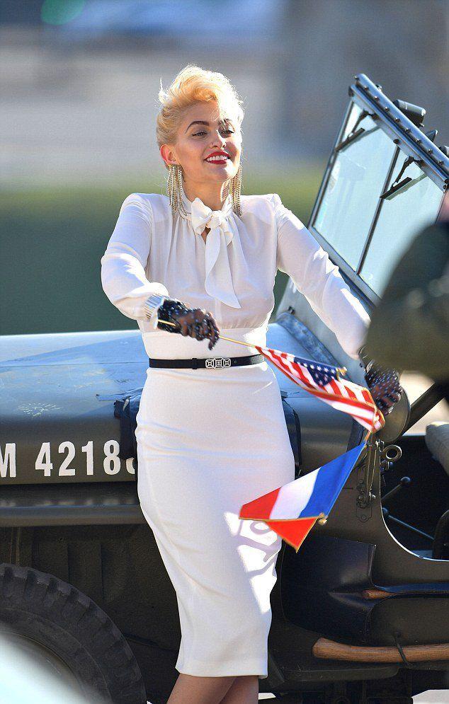 Пэрис Джексон во время съемок рекламной кампании Chanel