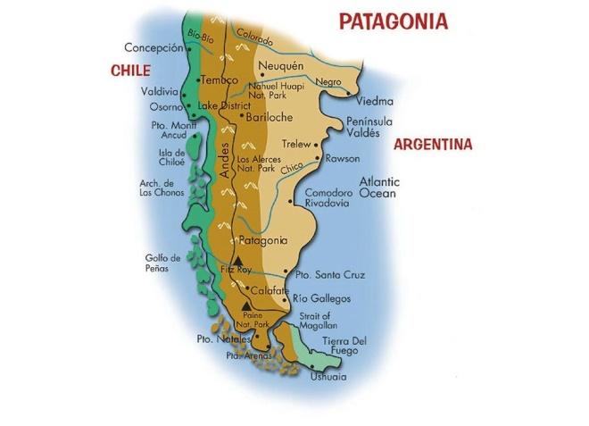 Патагония на карте