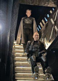 Патрик Стюарт и Иэн МакКеллен на съемках фильма Люди Икс