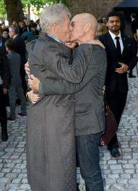 Встреча Патрика и Иэна на Лондонской премьере фильма Мистер Холмс