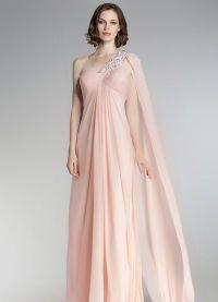 sukienka brzoskwiniowa w podłodze 7