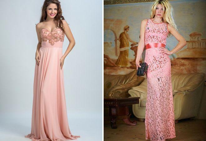 гипюровое персиковое платье