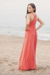 Peach šaty 5