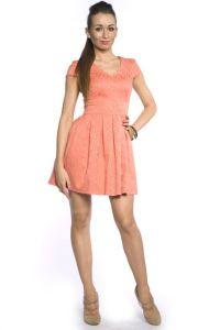 Peach šaty 9