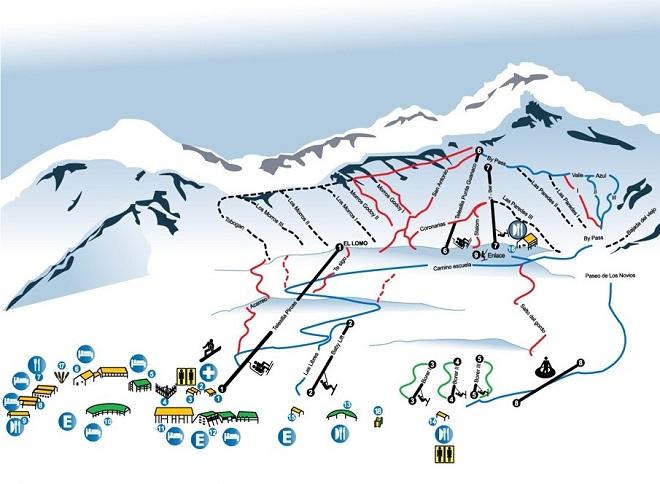 Карта лыжных трасс