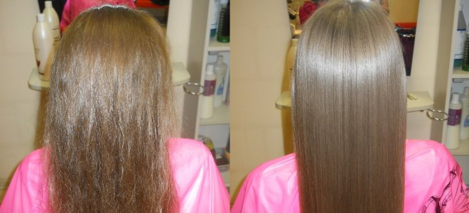 хемијска изравнавање косу пре и после 1