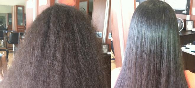 хемијска изравнавање косе пре и после 2