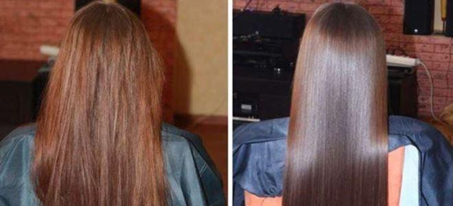 хемијска корекција косу пре и после 3