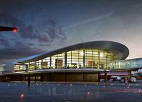 Аэропорт Перт, вид со стороны взлётного поля