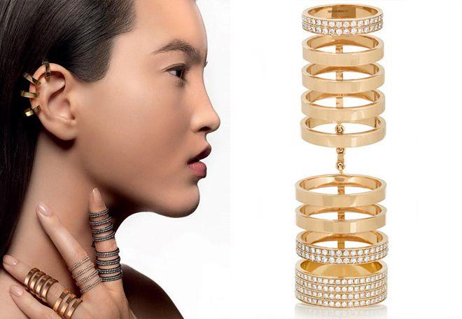 Златни прстен за 2 фаланга